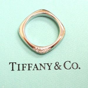 Tiffany & Co. 18k Diamond Cushion Ring Band SZ 6